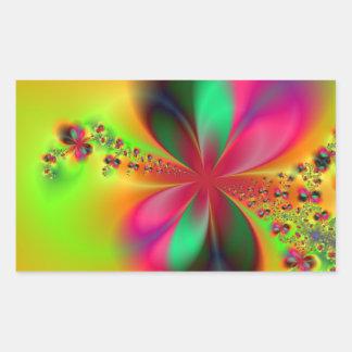 Arte del fractal de la danza del fuego rectangular altavoz
