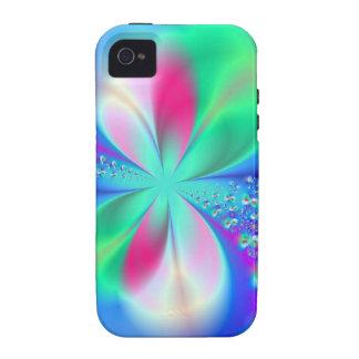 Arte del fractal de la danza del silfo Case-Mate iPhone 4 fundas