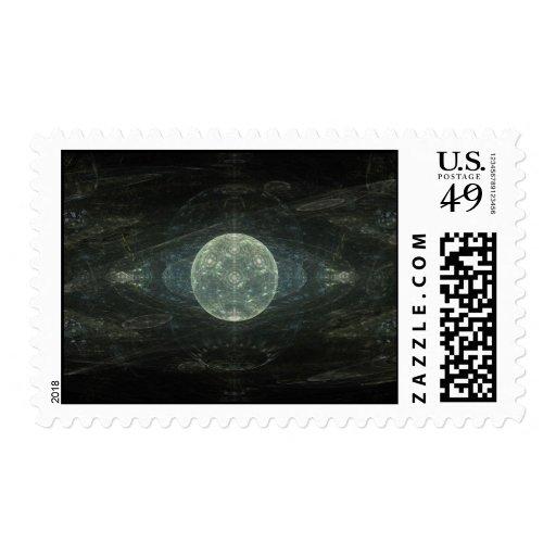 """""""Arte del fractal de la estación de la luna"""" Sello"""