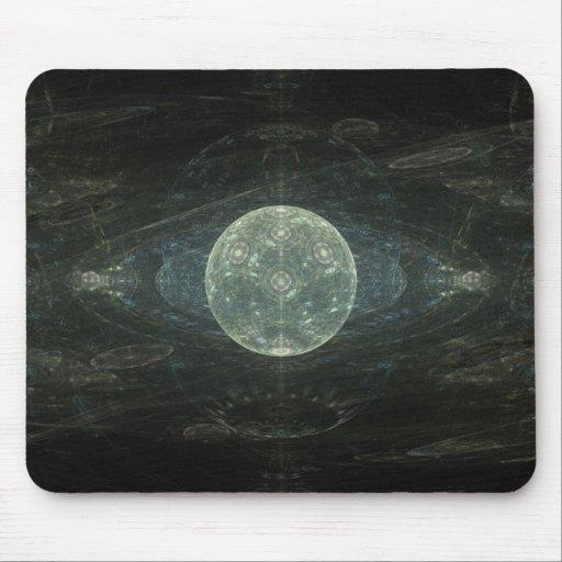 """""""Arte del fractal de la estación de la luna"""" Tapetes De Ratón"""