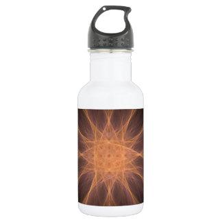 Arte del fractal de la estrella del naranja y de