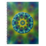 Arte del fractal de la mandala del arco iris cuadernos