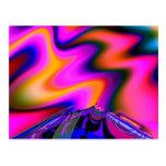 Arte del fractal de la multa del volcán 2 postal