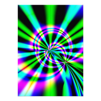 Arte del fractal de la noria invitación