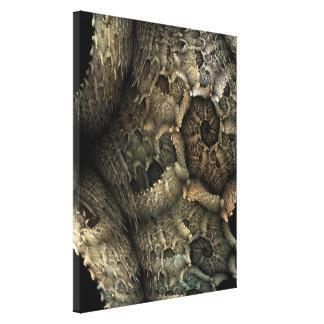Arte del fractal de la piel del dragón impresión de lienzo