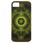 """""""Arte del fractal de la rueda de Magick de Metatro iPhone 5 Carcasas"""