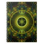 """""""Arte del fractal de la rueda de Magick de Metatro Cuadernos"""