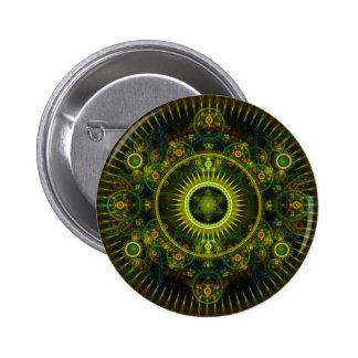 """""""Arte del fractal de la rueda de Magick de Metatro Pin"""