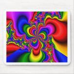arte del fractal de la rueda del arco iris tapete de ratones
