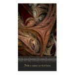 Arte del fractal de la torsión de la especia tarjetas de visita