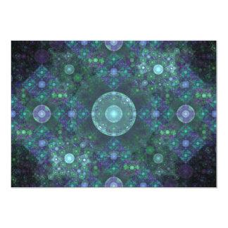 """""""Arte del fractal de las burbujas de jabón"""" Invitación 5"""" X 7"""""""