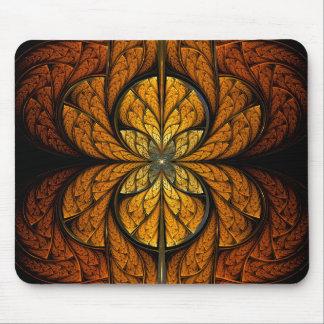 Arte del fractal de las plumas que brilla intensam tapete de raton