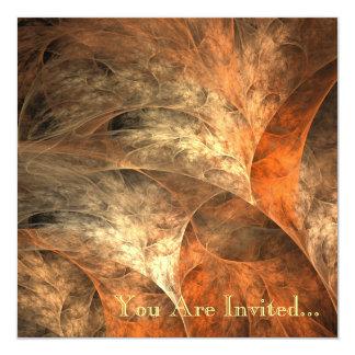 """Arte del fractal de las riquezas del otoño invitación 5.25"""" x 5.25"""""""