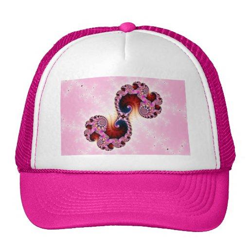 Arte del fractal de los géminis gorras de camionero
