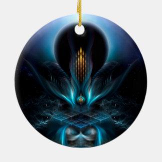 Arte del fractal de Penapia Adorno Redondo De Cerámica