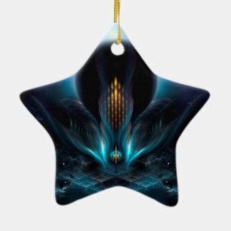Arte del fractal de Penapia Adorno De Cerámica En Forma De Estrella