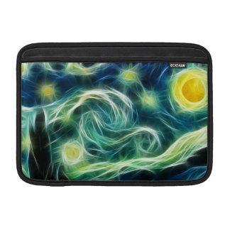 Arte del fractal de Van Gogh de la noche estrellad Funda MacBook