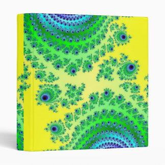 "Arte del fractal del amarillo del verde azul carpeta 1"""