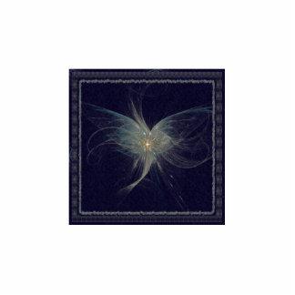Arte del fractal del ángel del invierno chapa fotoescultura