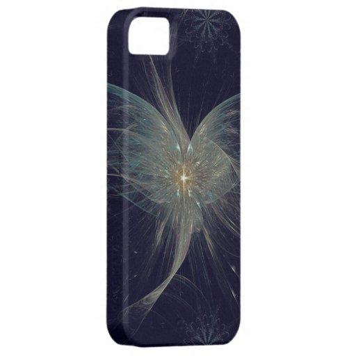 Arte del fractal del ángel del invierno iPhone 5 protectores