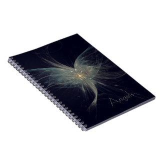 Arte del fractal del ángel del invierno libros de apuntes con espiral