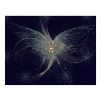 Arte del fractal del ángel del invierno tarjeta postal