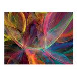 Arte del fractal del arco iris postales