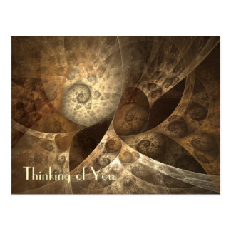 Arte del fractal del canela y del jengibre tarjetas postales