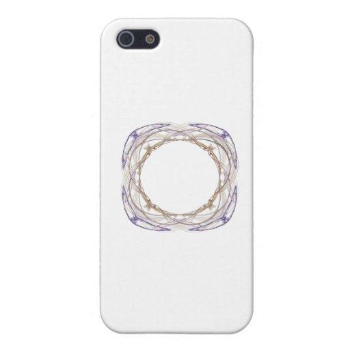 Arte del fractal del círculo del oro rodeado con e iPhone 5 protectores