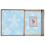 Arte del fractal del copo de nieve del navidad iPad fundas