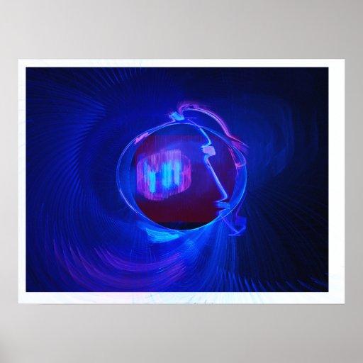 Arte del fractal del espacio interno impresiones