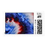 Arte del fractal del fuego y del hielo 3 timbres postales