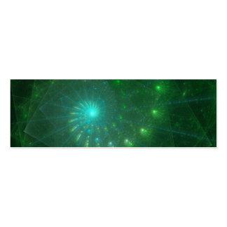 """Arte del fractal """"del gusano verde cuadrado"""" tarjetas de visita mini"""