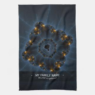 Arte del fractal del merodeador de la noche toalla de mano