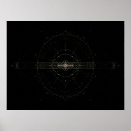 "Arte del fractal del ""ojo místico"" póster"