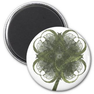 Arte del fractal del trébol de cuatro hojas con el imán