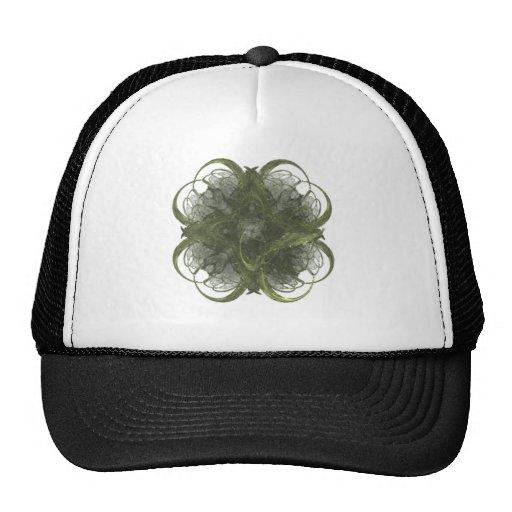 Arte del fractal del trébol de cuatro hojas gorra