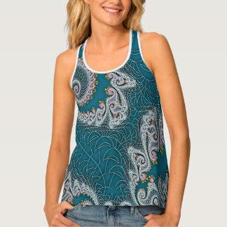 Arte del fractal en camisetas sin mangas de la