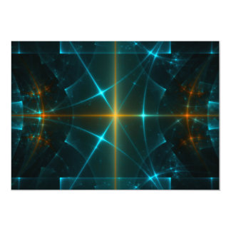 Arte del fractal invitación 12,7 x 17,8 cm