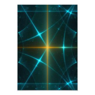 Arte del fractal invitación 8,9 x 12,7 cm