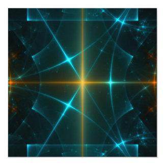 Arte del fractal invitación 13,3 cm x 13,3cm