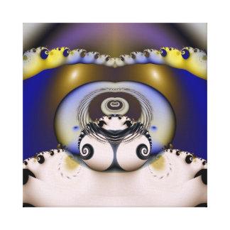 Arte del fractal lienzo envuelto para galerías