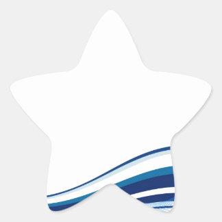 Arte del fractal pegatina en forma de estrella