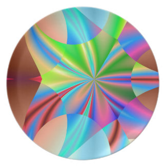 Arte del fractal platos para fiestas