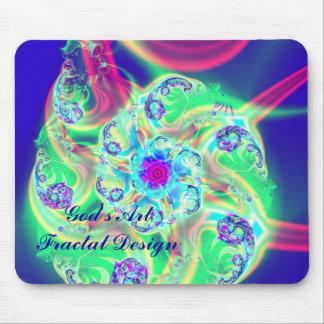 Arte del fractal por el cojín de ratón de dios tapetes de ratón