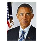 Arte del fractal, retrato oficial Barack Obama Tarjetas Postales