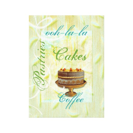 Arte del francés del patisserie del café de la lona estirada galerias