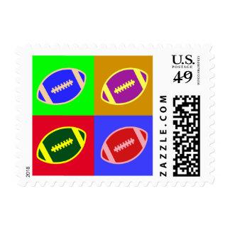 Arte del fútbol sellos postales