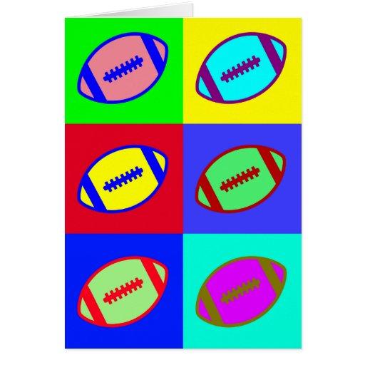 Arte del fútbol tarjeta de felicitación