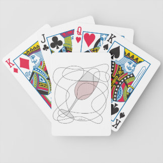 Arte del garabato de la copa de vino sombreado baraja de cartas
